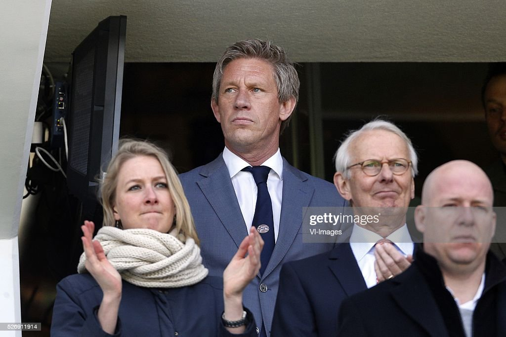Marcel Brands of PSV (C) during the Dutch Eredivisie match between PSV Eindhoven and SC Cambuur Leeuwarden at the Phillips stadium on May 01, 2016 in Eindhoven, The Netherlands