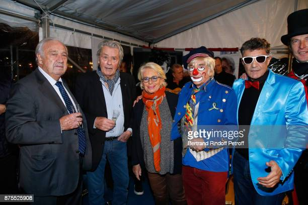 Marcel Campion Alain Delon and Veronique de Villele attend 'La Grande Roue de Paris' Opening Ceremony at Place de la Condorde on the Champs Elysees...