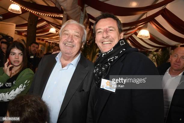 Marcel Campion and TV presenter Jean Luc Reichmann attend Foire du Trone Auction Launch Party to benefit 'Les Petits Princes' Children Care...