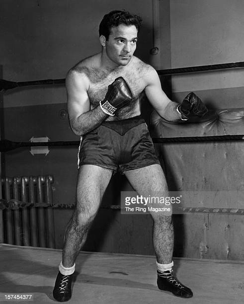 Marcel Cerdan of France Middleweight Champion of the World poses for a portrait