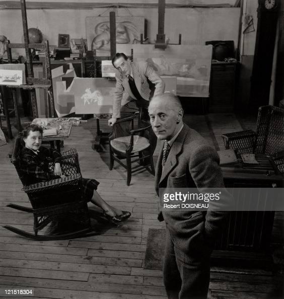 Marcel Duchamp Jacques Villon And Suzanne Duchamp 1950