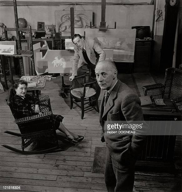 Marcel Duchamp Jacques Villon And Suzanne Duchamp 1950