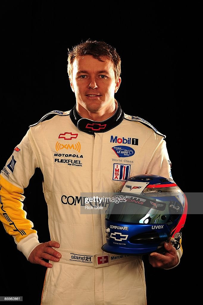 Marcel Fassler of Switzerland, driver of the Corvette Racing C6-R poses for a photo on March 18, 2009 in Sebring, Florida.