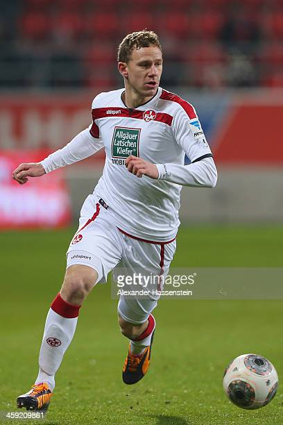 Marcel Gaus of Kaiserslautern runs with the ball during the Second Bundesliga match between FC Ingolstadt and 1FC Kaiserslautern at Audi Sportpark on...