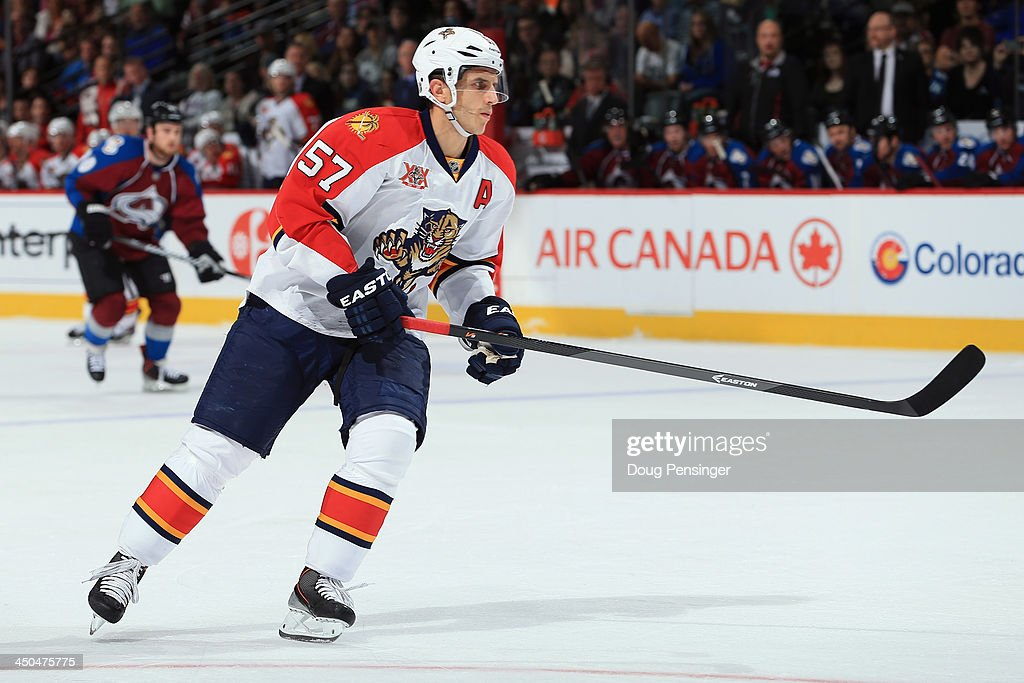 <a gi-track='captionPersonalityLinkClicked' href=/galleries/search?phrase=Marcel+Goc&family=editorial&specificpeople=541626 ng-click='$event.stopPropagation()'>Marcel Goc</a> #57 of the Florida Panthers skates against the Colorado Avalanche at Pepsi Center on November 16, 2013 in Denver, Colorado. The Panthers defeated the Avalanche 4-1.