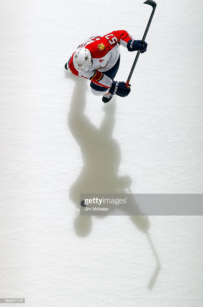 <a gi-track='captionPersonalityLinkClicked' href=/galleries/search?phrase=Marcel+Goc&family=editorial&specificpeople=541626 ng-click='$event.stopPropagation()'>Marcel Goc</a> #57 of the Florida Panthers warms up before a game against the New Jersey Devils at the Prudential Center on March 23, 2013 in Newark, New Jersey. The Devils defeated the Panthers 2-1.