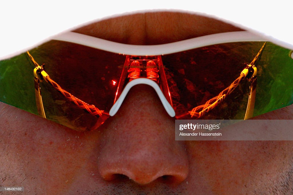 <a gi-track='captionPersonalityLinkClicked' href=/galleries/search?phrase=Marcel+Hacker&family=editorial&specificpeople=227472 ng-click='$event.stopPropagation()'>Marcel Hacker</a> of Germany competes in the Men´s Single Sculls heat during the 2012 Samsung World Rowing Cup III at the Ruderregattastrecke on June 16, 2012 in Munich, Germany.
