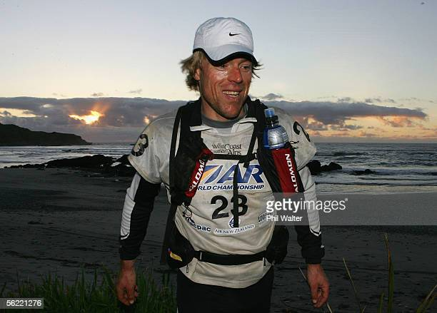 Marcel Hagener from the New Zealand team Balance Vector runs down Nine Mile beach on the fifth day of the Adventure Racing World Championship...