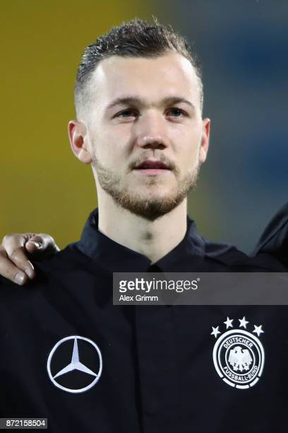Marcel Hartel of Germany looks on prior to the UEFA Under21 Euro 2019 Qualifier match between Azerbaijan U21 and Germany U21 at Dalga Arena on...