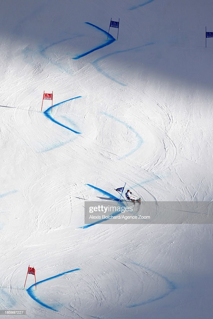 Marcel Hirscher of Austria competes during the Audi FIS Alpine Ski World Cup Men's Giant Slalom on October 27, 2013 in Soelden, Austria.