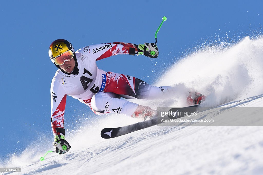<a gi-track='captionPersonalityLinkClicked' href=/galleries/search?phrase=Marcel+Hirscher&family=editorial&specificpeople=4784559 ng-click='$event.stopPropagation()'>Marcel Hirscher</a> of Austria competes during the Audi FIS Alpine Ski World Cup Men's Giant Slalom on October 26, 2014 in Soelden, Austria.