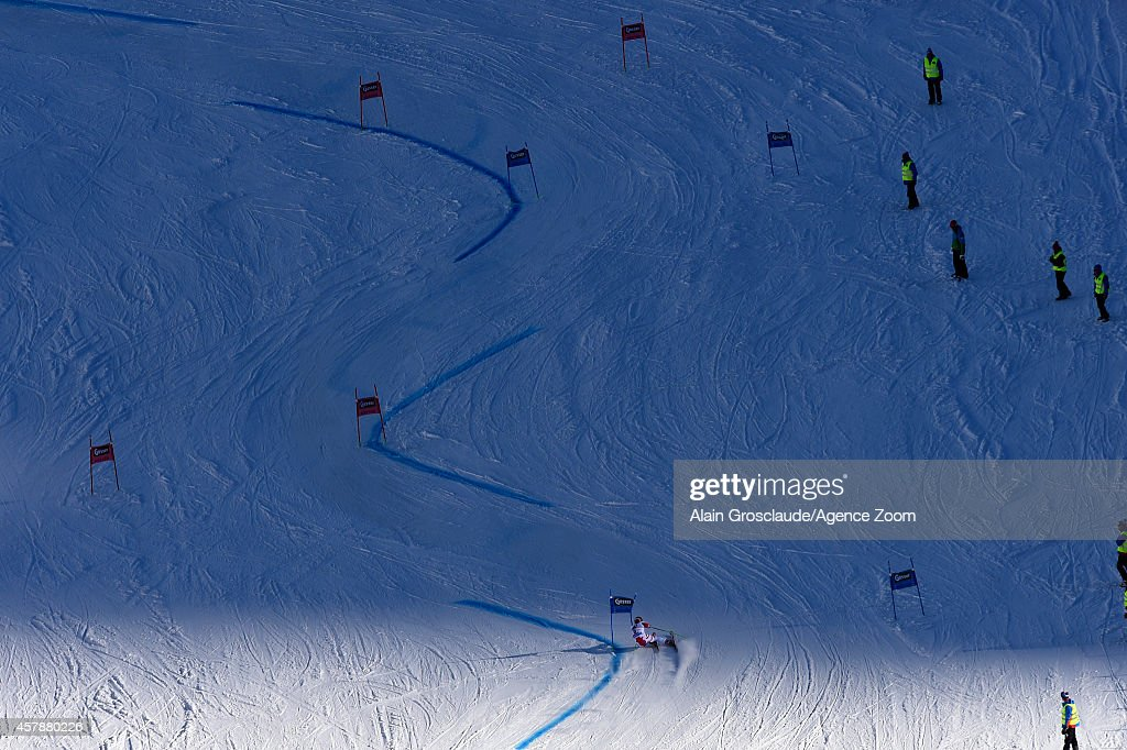 Marcel Hirscher of Austria competes during the Audi FIS Alpine Ski World Cup Men's Giant Slalom on October 26 2014 in Soelden Austria