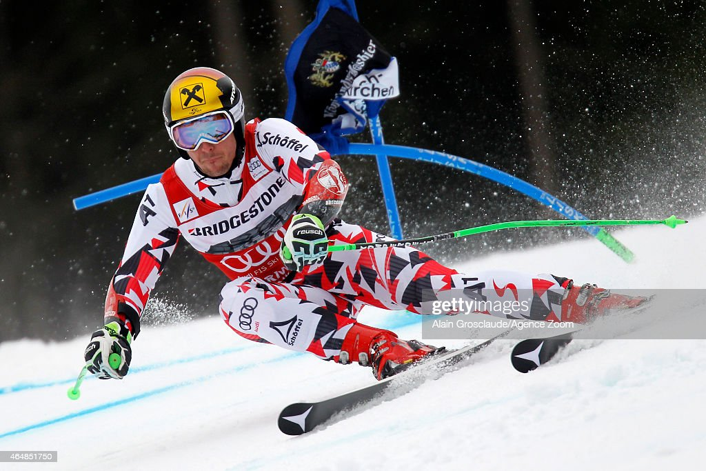 <a gi-track='captionPersonalityLinkClicked' href=/galleries/search?phrase=Marcel+Hirscher&family=editorial&specificpeople=4784559 ng-click='$event.stopPropagation()'>Marcel Hirscher</a> of Austria competes during the Audi FIS Alpine Ski World Cup Men's Giant Slalom on March 01, 2015 in Garmisch-Partenkirchen, Germany.