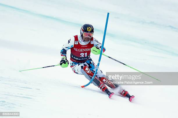 Marcel Hirscher of Austria competes during the Audi FIS Alpine Ski World Cup Men's Combined on December 29 2016 in Santa Caterina Italy