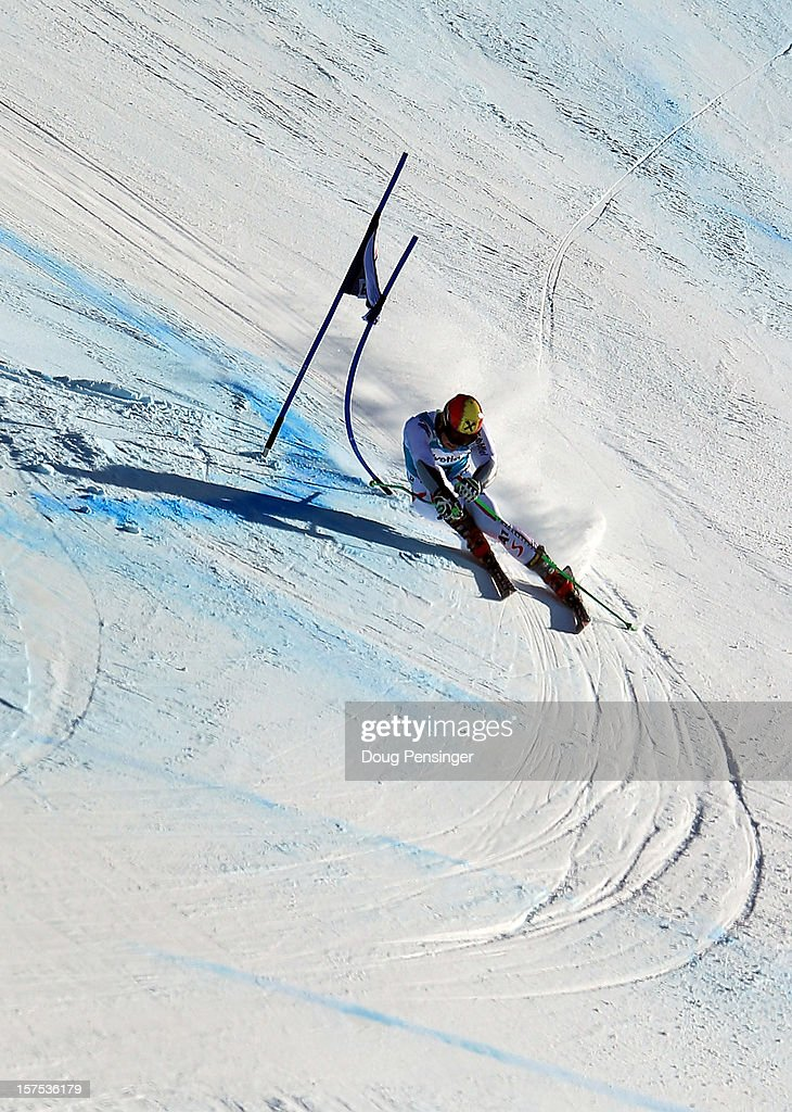Marcel Hirscher of Austria descends the course en route to finishing second in the men's Giant Slalom at the Audi FIS World Cup on December 2, 2012 in Beaver Creek, Colorado.