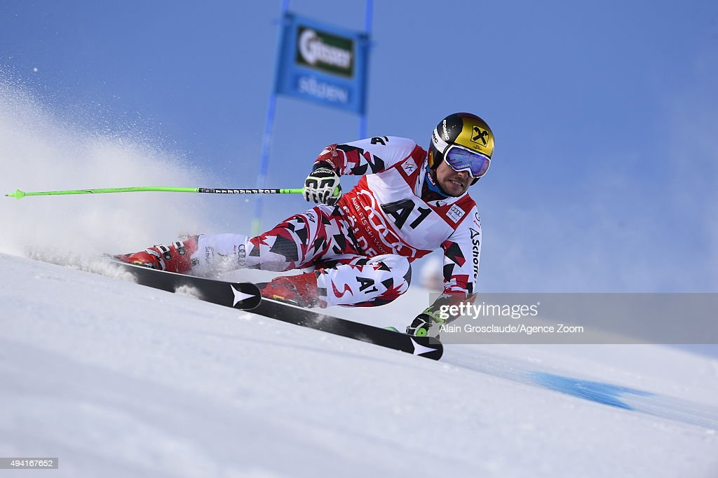 <a gi-track='captionPersonalityLinkClicked' href=/galleries/search?phrase=Marcel+Hirscher&family=editorial&specificpeople=4784559 ng-click='$event.stopPropagation()'>Marcel Hirscher</a> of Austria in action during the Audi FIS Alpine Ski World Cup Men's Giant Slalom on October 25, 2015 in Soelden, Austria.