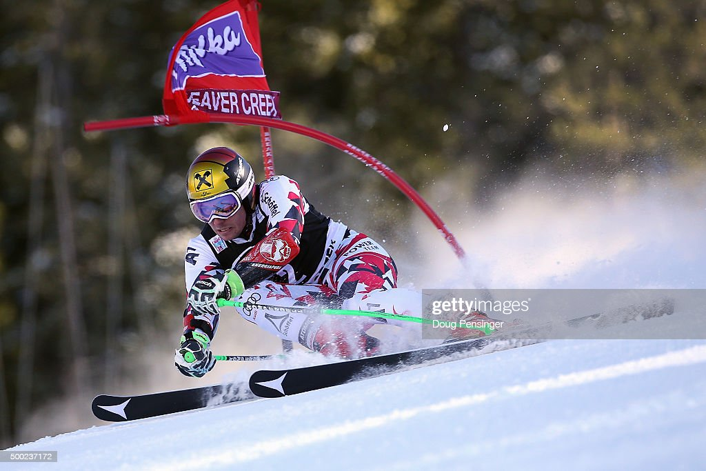 Marcel Hirscher of Austria skis to first place in the giant slalom at the 2015 Audi FIS Ski World Cup on December 6 2015 in Beaver Creek Colorado