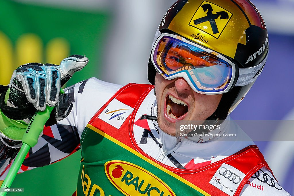<a gi-track='captionPersonalityLinkClicked' href=/galleries/search?phrase=Marcel+Hirscher&family=editorial&specificpeople=4784559 ng-click='$event.stopPropagation()'>Marcel Hirscher</a> of Austria takes 2nd place during the Audi FIS Alpine Ski World Cup Men's Giant Slalom on March 14, 2015 in Kranjska Gora, Slovenia.