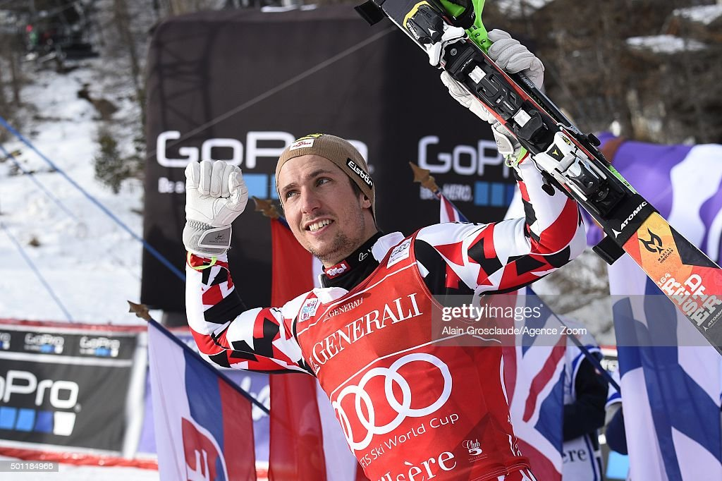 <a gi-track='captionPersonalityLinkClicked' href=/galleries/search?phrase=Marcel+Hirscher&family=editorial&specificpeople=4784559 ng-click='$event.stopPropagation()'>Marcel Hirscher</a> of Austria takes 2nd place during the Audi FIS Alpine Ski World Cup Men's Slalom on December 13, 2015 in Val d'Isere, France.