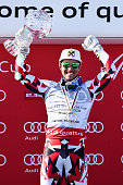 Marcel Hirscher of Austria wins the Overall World Cup Crystal Globe during the Audi FIS Alpine Ski World Cup Finals Men's Slalom and Women's Giant...