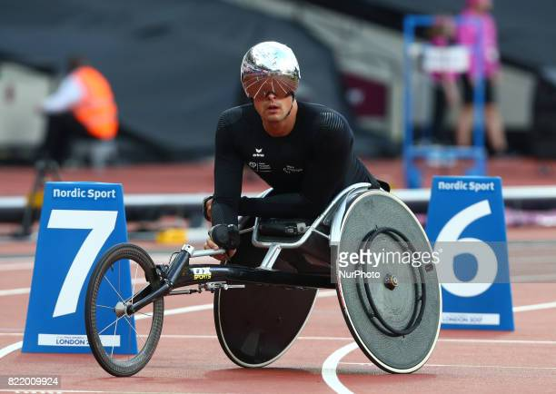 Marcel Hug of Switzerland compete Men's 800m T54 Final during World Para Athletics Championships at London Stadium in London on July 21 2017