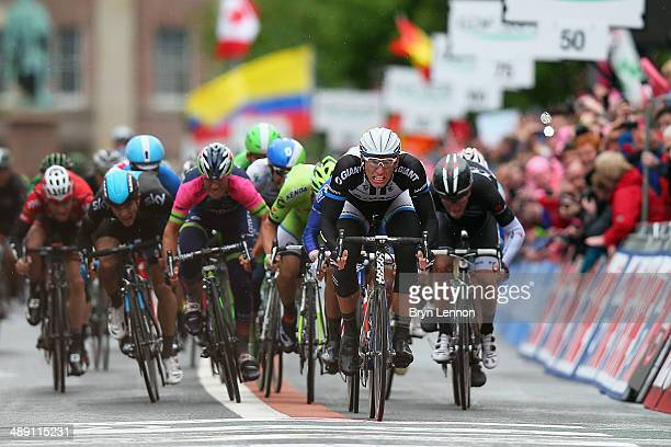 Marcel Kittel of Germany and GiantShimano sprints to win the second stage of the 2014 Giro d'Italia a 219km flat road stage on May 10 2014 in Belfast...