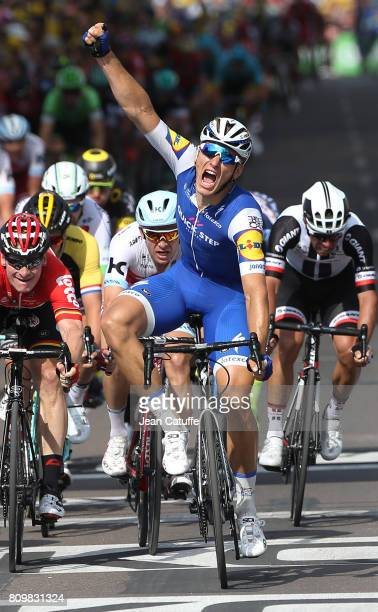 Marcel Kittel of Germany and Quick Step Floors celebrates winning stage 6 of the Tour de France 2017 a stage between Vesoul and Troyes on July 6 2017...