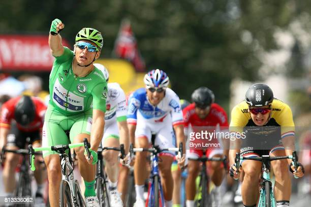 Marcel Kittel of Germany and QuickStep Floors celebrates his fifth win on stage eleven of Le Tour de France 2017 a 2035km road stage from Eymet to...
