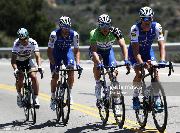 Marcel Kittel of Germany and QuickStep Floors climbs in the peloton on stage 3 of the AMGEN Tour of California from Pismo Beach to Morro Bay on May...
