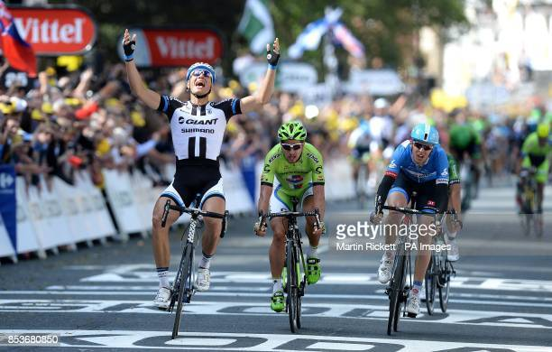 Marcel Kittel of GiantShimano wins of stage one of the Tour de France in Harrogate Yorkshire