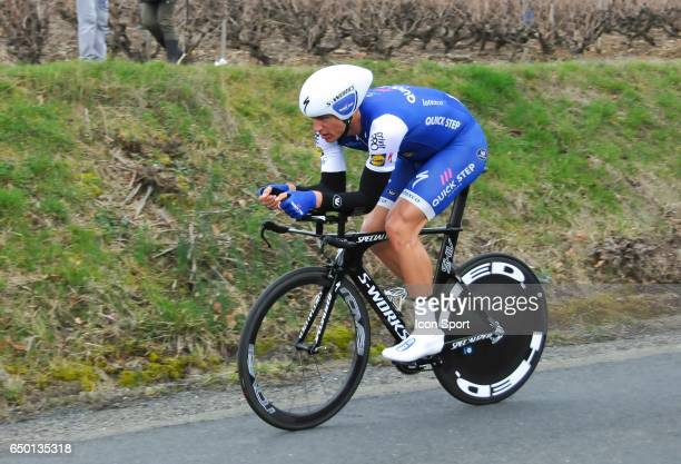Marcel Kittel of Quick Step Floors on stage 4 of the 2017 Paris Nice a time trial stage from Beaujeu to Mont Brouilly on March 8 2017 in Mont...