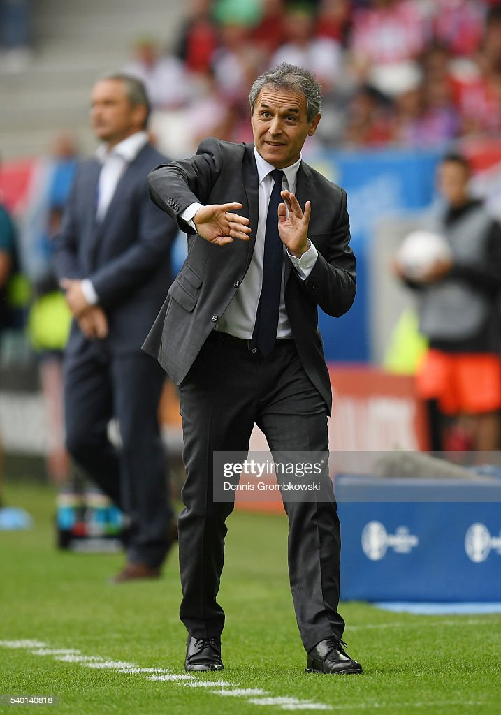 <a gi-track='captionPersonalityLinkClicked' href=/galleries/search?phrase=Marcel+Koller&family=editorial&specificpeople=535663 ng-click='$event.stopPropagation()'>Marcel Koller</a> head coach of Austria gestures during the UEFA EURO 2016 Group F match between Austria and Hungary at Stade Matmut Atlantique on June 14, 2016 in Bordeaux, France.