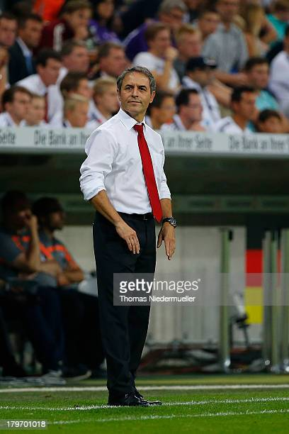 Marcel Koller head coach of Austria is seen during the FIFA 2014 World Cup Qualifying Group C match between Germany and Austria at Allianz Arena on...