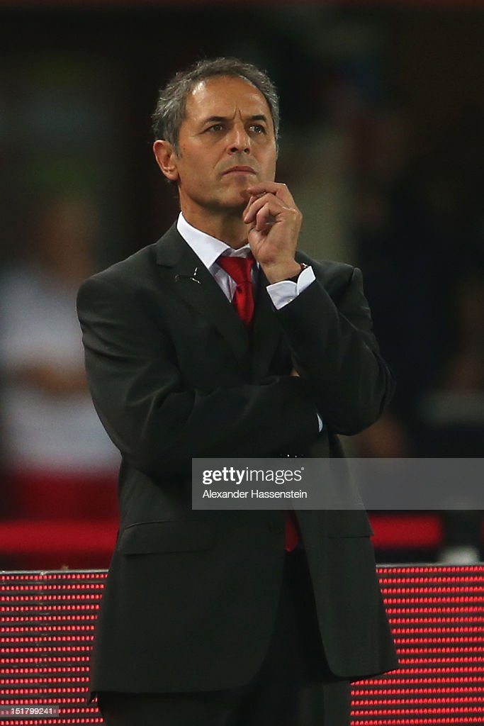<a gi-track='captionPersonalityLinkClicked' href=/galleries/search?phrase=Marcel+Koller&family=editorial&specificpeople=535663 ng-click='$event.stopPropagation()'>Marcel Koller</a>, head coach of Austria looks on during the FIFA 2014 World Cup Qualifier group C match between Austria and Germany at Ernst Happel Stadion on September 11, 2012 in Vienna, Austria.