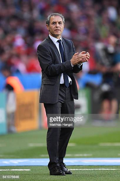 Marcel Koller head coach of Austria looks on during the UEFA EURO 2016 Group F match between Portugal and Austria at Parc des Princes on June 18 2016...
