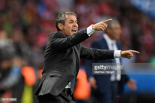 Marcel Koller head coach of Austria reacts during the UEFA EURO 2016 Group F match between Portugal and Austria at Parc des Princes on June 18 2016...