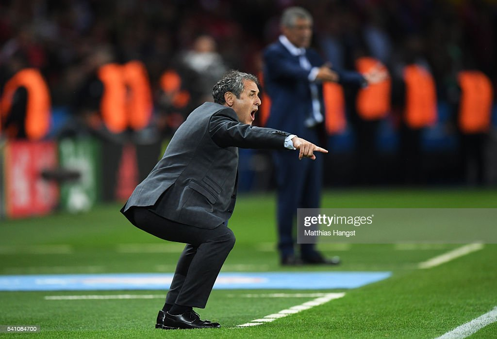 <a gi-track='captionPersonalityLinkClicked' href=/galleries/search?phrase=Marcel+Koller&family=editorial&specificpeople=535663 ng-click='$event.stopPropagation()'>Marcel Koller</a> head coach of Austria reacts during the UEFA EURO 2016 Group F match between Portugal and Austria at Parc des Princes on June 18, 2016 in Paris, France.