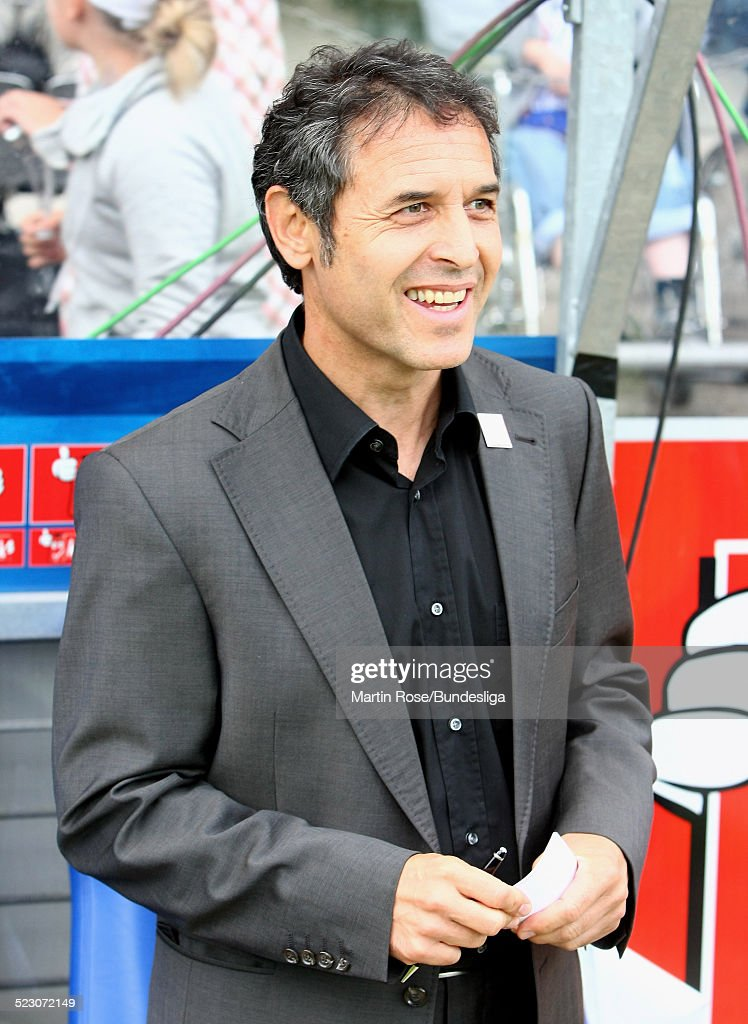 <a gi-track='captionPersonalityLinkClicked' href=/galleries/search?phrase=Marcel+Koller&family=editorial&specificpeople=535663 ng-click='$event.stopPropagation()'>Marcel Koller</a>, head coach of Bochum seen during the Bundesliga match between VfL Bochum and VfL Wolfsburg at the rewirpower stadium on August 24, 2008 in Bochum, Germany.