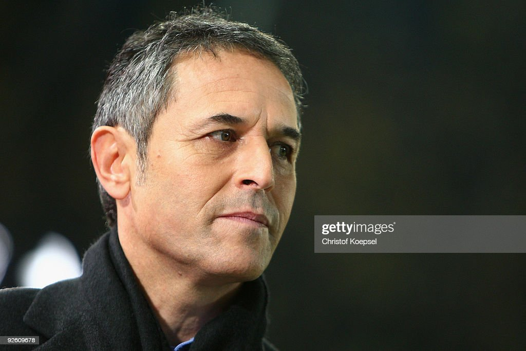 Marcel Koller is seen prior to the Bundesliga match between Borussia Dortmund and Hertha BSC Berlin at the Signal Iduna Park on October 30, 2009 in Dortmund, Germany.