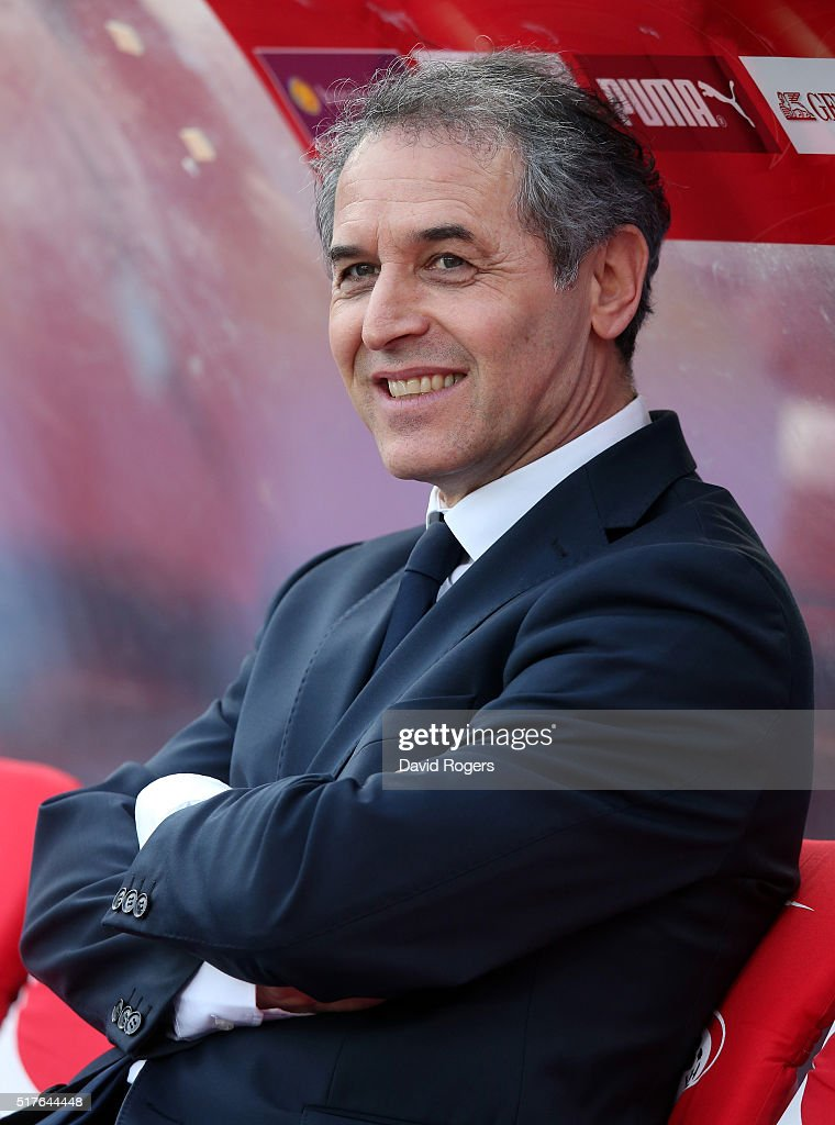 Marcel Koller, the Austria manager looks on during the international friendly match between Austria and Albania at the Ernst-Happel-Stadion on March 26, 2016 in Vienna, Austria.