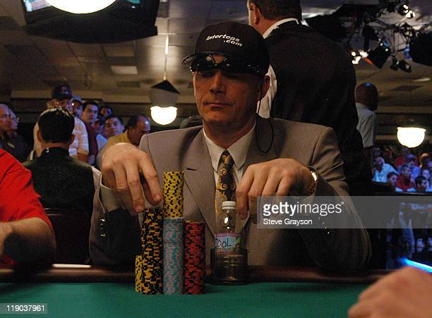 Marcel Luske counts his chips during day six of the 2004 World Series of Poker at Binion's Horseshoe Club and Casino in Las Vegas Nevada May 27 2004