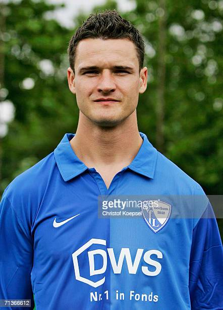 Marcel Maltritz poses during the Bundesliga Team Presentation of VfL Bochum on June 26 2006 in Bochum Germany