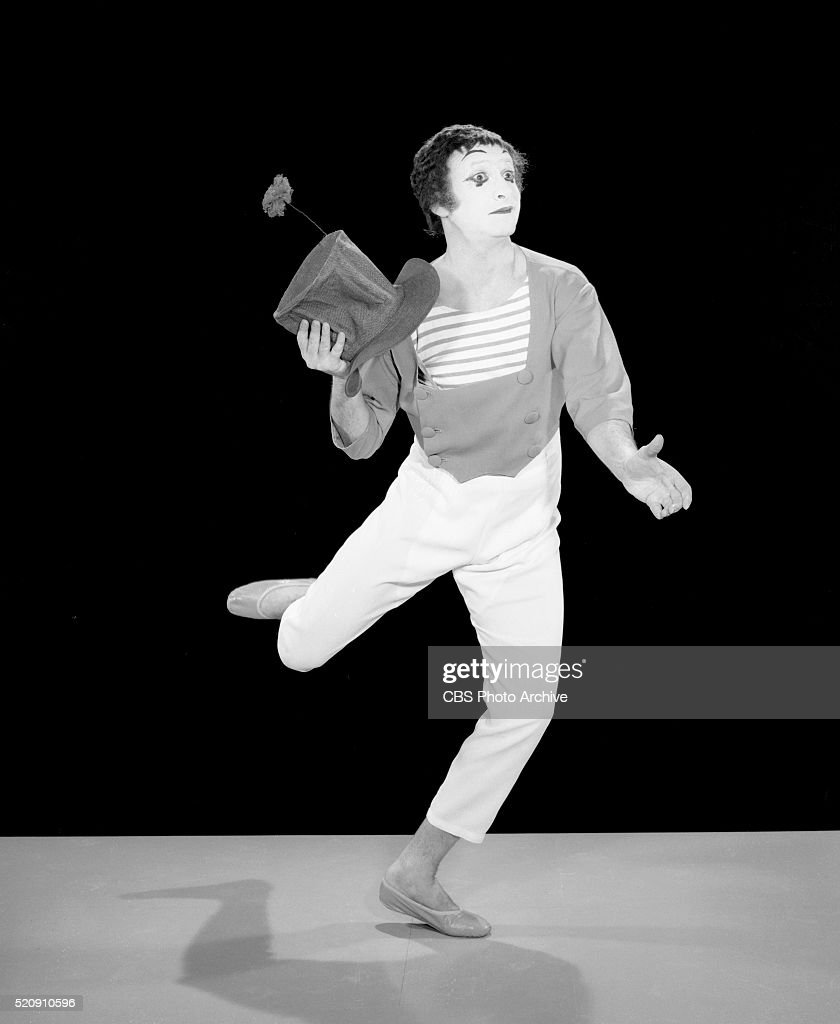 Marcel Marceau, as the mime, 'Bip'. He performs on the The Red Skelton Hour New York, NY. Image dated November 29, 1965.