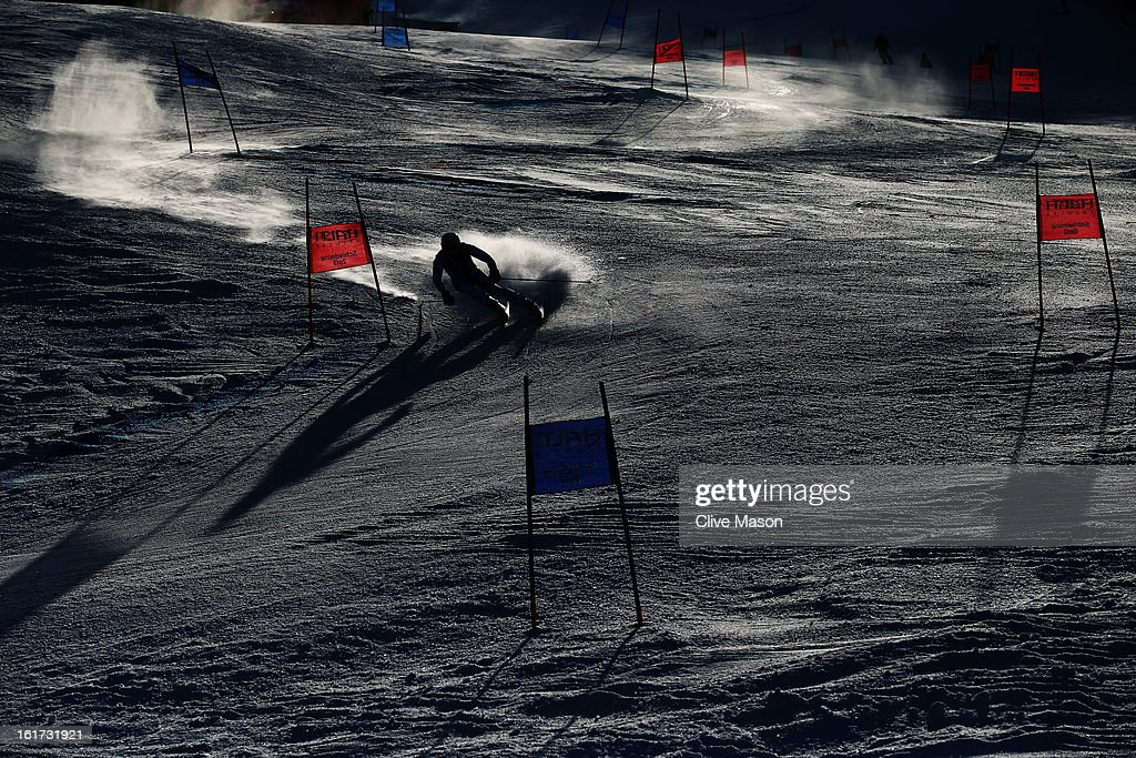 Marcel Mathis of Austria skis in the Men's Giant Slalom during the Alpine FIS Ski World Championships on February 15, 2013 in Schladming, Austria.