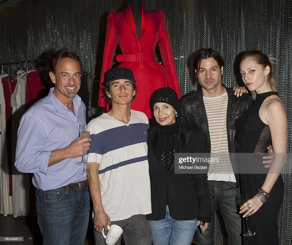 Marcel Mead, Bianca Mead and Actors Cheryl Sands and Jess Monty and guest attend Le Lounge on February 22, 2013 in Los Angeles, California.