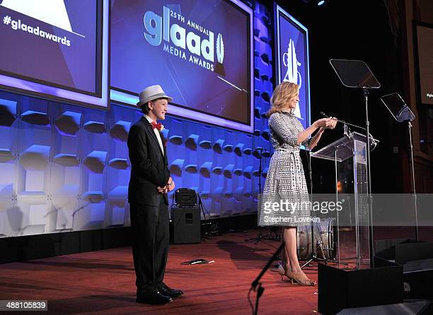Marcel Neergaard and Chely Wright speak at the 25th Annual GLAAD Media Awards on May 3 2014 in New York City