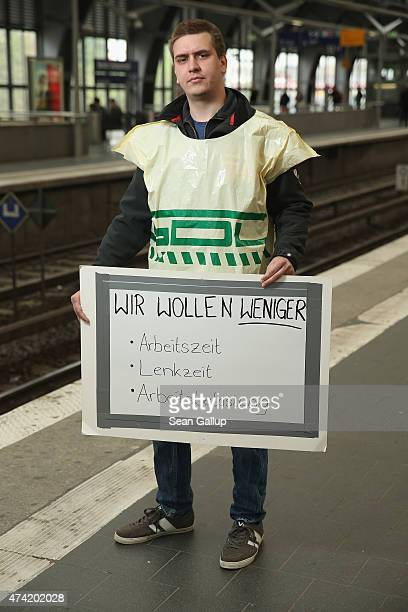 Marcel Neid who is a member of the GDL labor union and a railway engineer at the Berlin SBahn commuter train system a subsidiary of Deutsche Bahn...