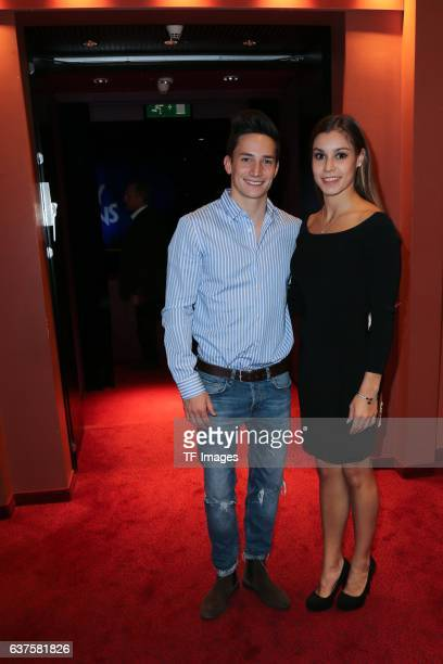 Marcel Nguyen and Michelle Timm attend the premiere of the Mary Poppins musical at Stage Apollo Theater on October 23 2016 in Stuttgart Germany