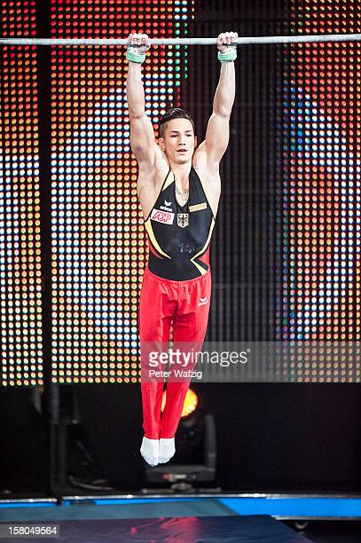 Marcel Nguyen does a gymnastics routine during the 'Menschen Bilder Emotionen' TVShow on December 09 2012 in Cologne Germany