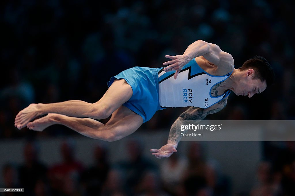<a gi-track='captionPersonalityLinkClicked' href=/galleries/search?phrase=Marcel+Nguyen&family=editorial&specificpeople=241408 ng-click='$event.stopPropagation()'>Marcel Nguyen</a> of Germany in action during the German Gymnastics Championship Day 2 at Sporthalle Hamburg on June 26, 2016 in Hamburg, Germany.